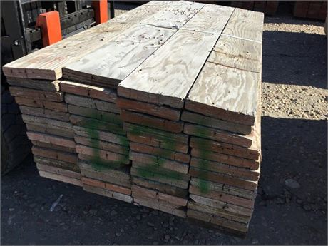 2 in. x 10 in. x 6 ft. lots of 52 Used Scaffold Planks