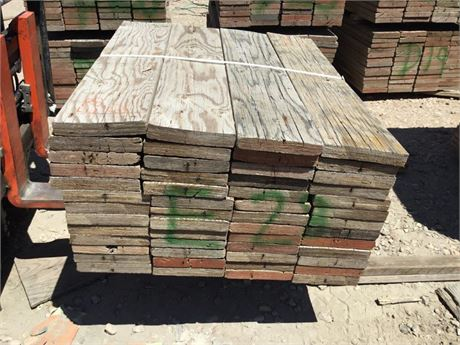 2 in. x 10 in. x 4 ft. lots of 52 Used Scaffold Planks