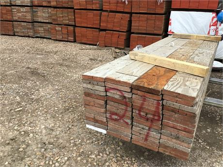 2 in. x 10 in. x 12 ft. lots of 52 Used Scaffold Planks