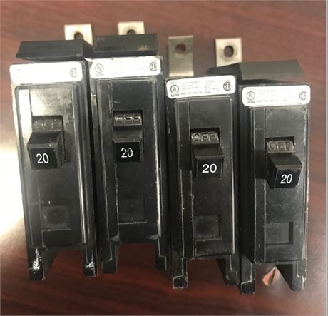 4-Eaton 20 Amp Circuit Interrupters