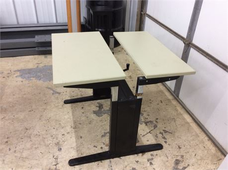 Small Cream Adjustable Table/Stand